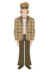 Man in retro dressing