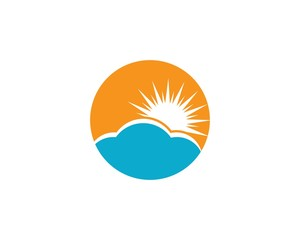 sun ilustration logo vector