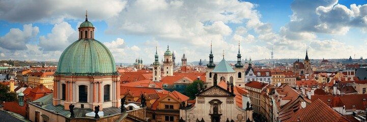Aluminium Prints Prague Prague skyline rooftop view dome