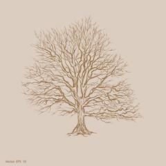 Vector tree . Retro tree