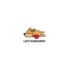 Lazy kangaroo icon, logo design, vector illustration