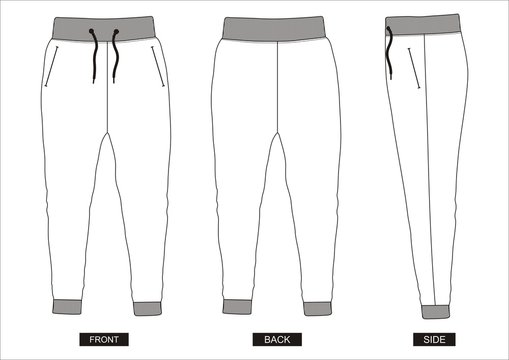 design vector template pants collection for men