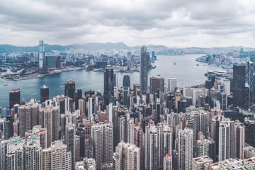 City view in Central, Hong Kong, hike travel