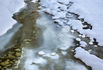 River near Tatranska Javorina village. Poprad district. Slovakia