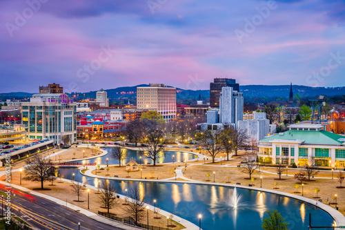 Fototapete Huntsville, Alabama, USA Skyline