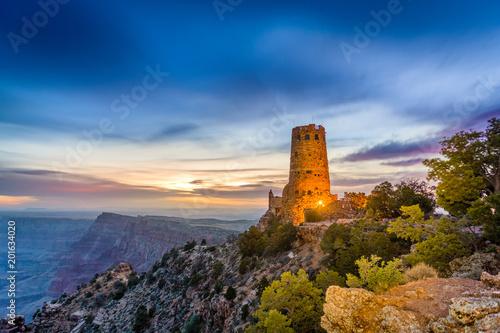 Desert View Watchtower On The Grand Canyon Stockfotos Und