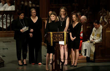 Jenna Bush Hager speaks during funeral services for her grandmother, former first lady Barbara Bush at St. Martin's Episcopal Church in Houston