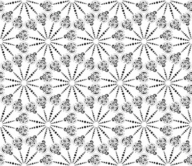 Seamless abstract pattern in black and white.