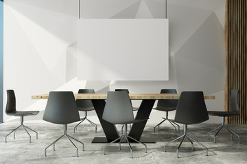 Modern meeting room wit poster