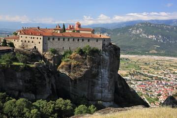 Monasteries on the rocks in Meteora region of Greece