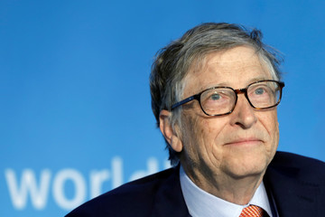 Bill Gates, co-chair of the Bill & Melinda Gates Foundation; speaks at a panel discussion