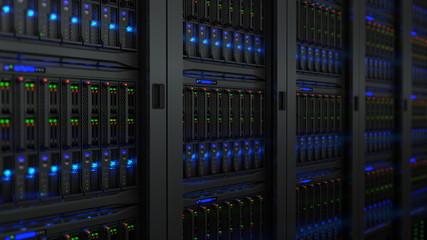 Servers in modern data center Wall mural