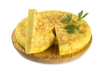 Tortilla de patata típica de España