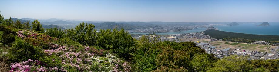 佐賀県唐津市鏡山からの景色