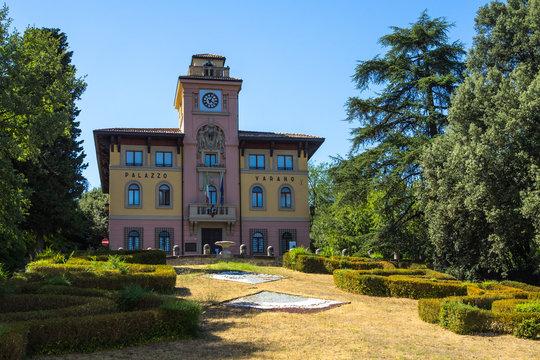 Palazzo Varano hosts the City Hall of Predappio, the town were Benito Mussolini was born, Italy