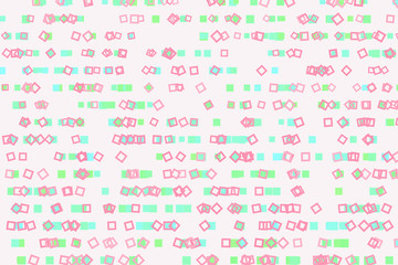 Shape of square, rectangle, abstract background pattern. Style, backdrop, drawing & messy.