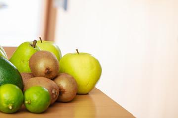Apple, kiwi, lime and pear