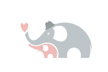 Cute elephants. Happy fathers day.
