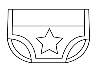 baby shower boy diaper star decoration vector illustration outline