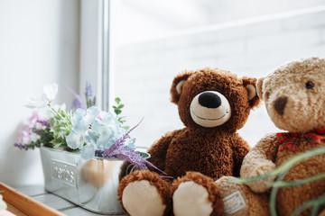Teddy bear . bear with flowers