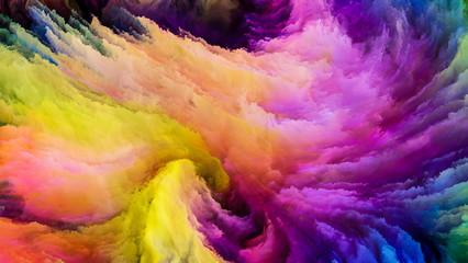 Petals of Colorful Paint