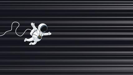 astronaut flying on light speed