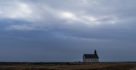 Icelandic Landscape with Church