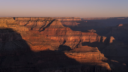 Spectacular sunrise at Grand Canyon, American national monument and park, view from the South Rim, Grand Canyon National Park, Arizona, USA