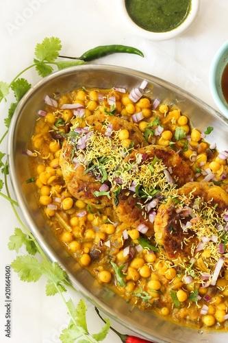 Ragda Patties /Indian Street food with Ptato Pattice