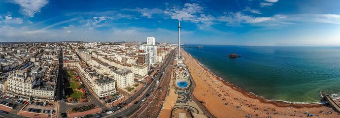Aerial view of Brighton in sunny day, England Wall mural