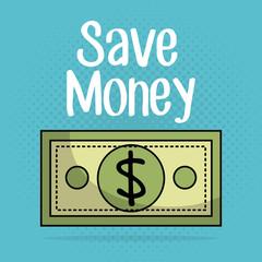 save money bills icons vector illustration design
