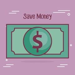 save mpney bill dollar icon vector illustration design