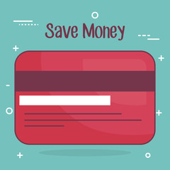 credit card save money icon vector illustration design