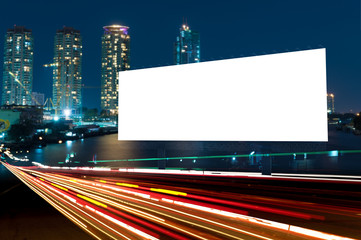 billboard night or outdoor advertising