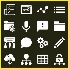 Set of 16 interface filled icons