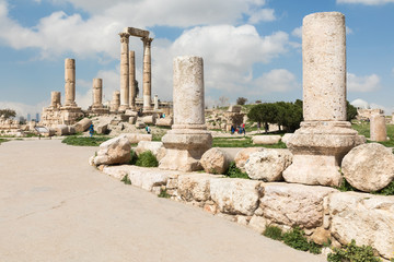 The Temple of Hercules in the Citadel of Amman, Jordan.
