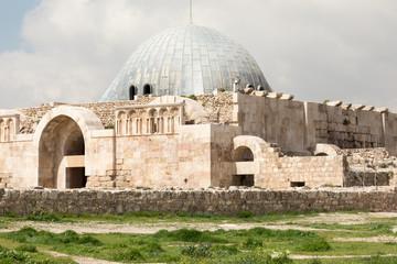 Amman Citadel complex (Jabal al-Qal'a), a national historic site at the center of downtown Amman, Jordan