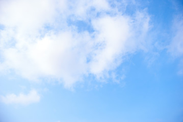 Blue sky white cloud on background