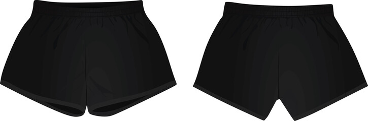 Black shorts. vector illustration
