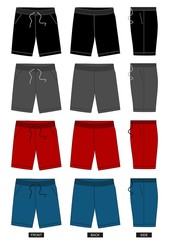 design vector template shorts collection for men