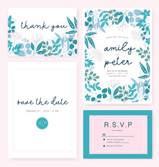 Wedding Card invitation template with sample text.