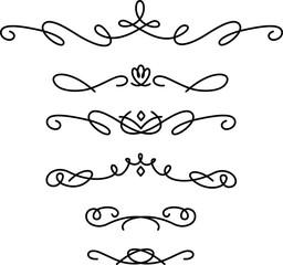 手書きの飾り線のセット