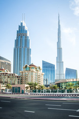 Beautiful view on Dubai downtown skyscrapers, United Arab Emirates