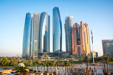 Wall Murals Abu Dhabi View of Abu Dhabi city, United Arab Emirates