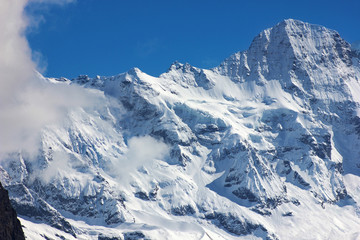 Snowy Mountain and blue sky