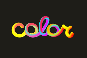 Colorful word color