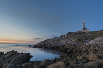 Punta Nariga lighthouse (Malpica, La Coruna - Spain).