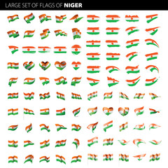 Niger flag, vector illustration