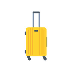 Object of baggage, luggage, suitcase isolated on white background