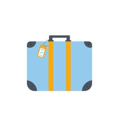 Object of baggage, luggage, suitcase isolated on white background